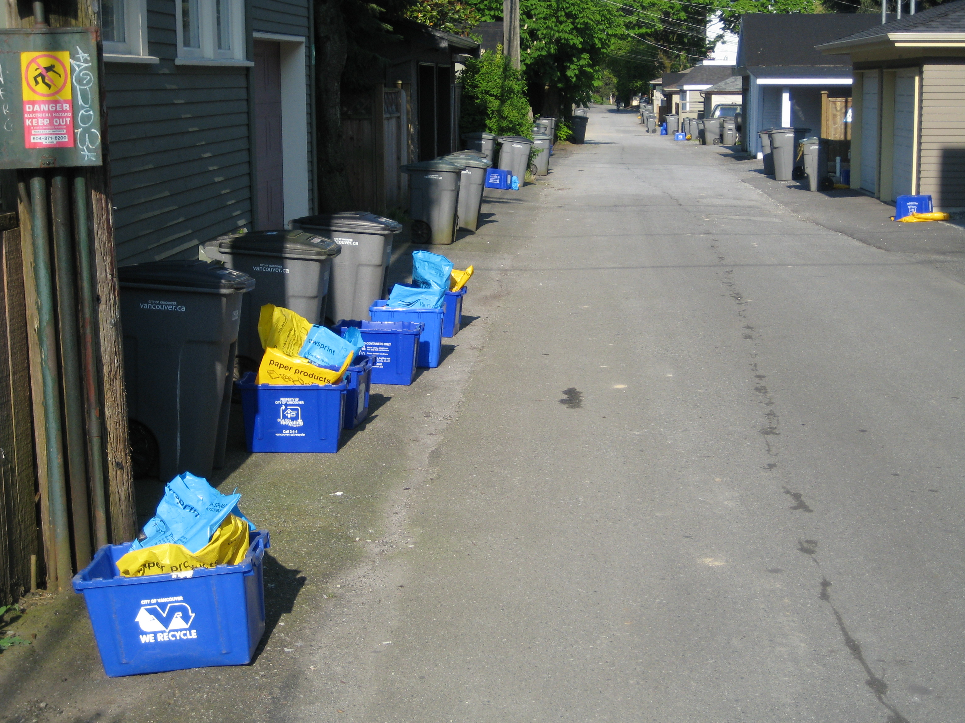 Blue bins are a signifier in a climate change landscape. What do they mean to you? Photo: S. Sheppard